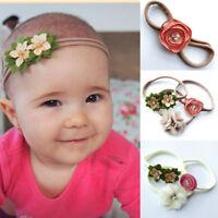 3Pcs Kids Girl Baby Toddler Infant Flower Elastic Headband Hair Band Accessories