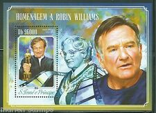 SAO TOME et PRINCIPE  2014 HOMMAGE TO ROBIN WILLIAMS SOUVENIR SHEET   MINT NH