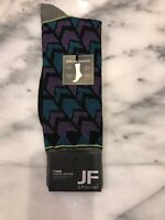 JF J.FERRAR Men's Dress Socks HEATHER CHEVRON Pattern Size 10-13 NWT Fun Style