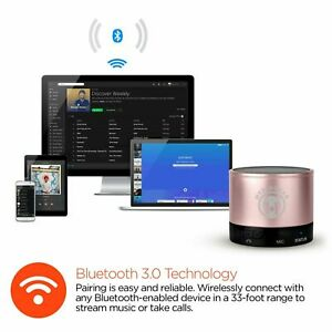 HyperGear MiniBoom Wireless Bluetooth Speaker w/ Built-In Microphone - Rose Gold