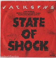 "Jackson 5 - State of Shock 7"" Sgl 1984 / Mick Jagger"