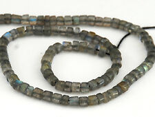 HALF STRAND OF SPARKLY LABRADORITE DRUM / HEISHI BEADS, 5 X 3 MM, GEMSTONE