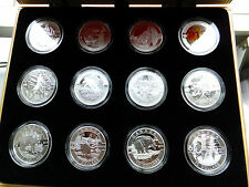 1/2 oz Fine Silver Coins  O Canada 12-Coin Subscription Set 2013 with WOODEN BOX