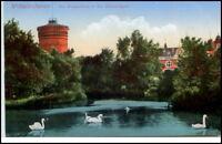 WILHELMSHAVEN um 1920 AK Wasserturm Parkanlagen Teich