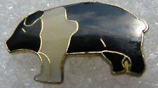Pin's Animal Un petit Cochon noir et Blanc