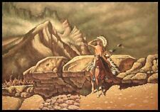 "* 36""x24"" Oil Painting on Canvas, Old Wild West Scene"