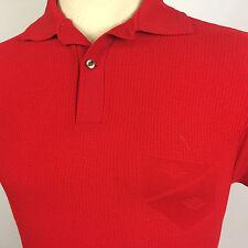 Vintage 1950's Knit Gabardine Atomic Retro Mid Century Polo Nylon Board Shirt S