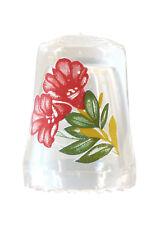 Fingerhut de vaso de cristal estampado flores-ae 739