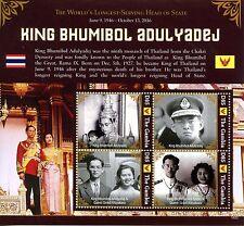 Gambia 2016 MNH King Bhumibol Adulyadej Thailand 4v M/S I Royalty Stamps
