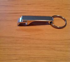Qty 1- Key Chain Bottle and Can Opener - Color: SILVER Aluminum