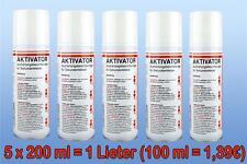 5 x 200ml Aktivator = (1 Lieter ) für Sekundenkleber, Spraydose (100ml = 1,39)