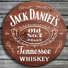 Traditional Jack Daniels Whiskey - Barrel End Style Wooden Pub Sign - Hand Made