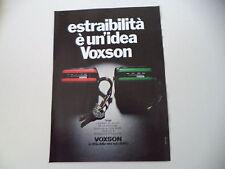 advertising Pubblicità 1979 AUTORADIO VOXSON TANGA
