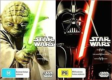 Star Wars Original & Prequel Trilogy BRAND NEW R4 DVD 1 2 3 4 5 6 Episodes I-VI