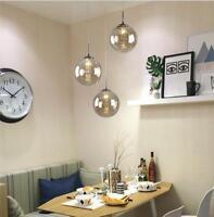 Modern Glass Ball Globe Pendant Lamp LED Crystal Ceiling Light Loft Bar Stairs