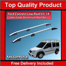 FORD TRANSIT CONNECT SWB 2003-14 SILVER ROOF RACK RAILS ALUMINIUM BARS NO DRILL