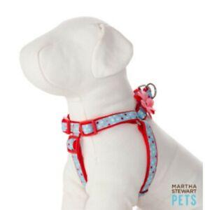 Martha Stewart Pets® Spring Shower Polka Dot Step-In Dog Harness Sz Large New