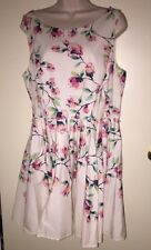 """LC LAUREN CONRAD Women's Floral Fit & Flare Sleeveless Dress """"MAGNOLIAH"""" 16 NWT"""