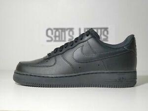 Men's Nike Air Force 1 '07 Triple Black Size 7-16 [CW2288 001]