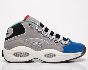 Reebok Question Mid Draft Night 25th Anniversary Men's Grey Blue Lifestyle Shoes