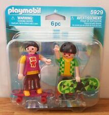 Playmobil 5929 Skateboarders Duo Pack - Figures Accessories Skater, Retired -NEW