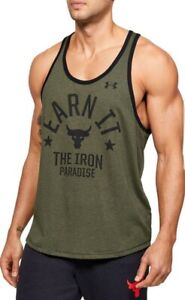 Under Armour Men's Project Rock Earn It Iron Paradise Tank Top Shirt 1353922-315