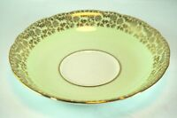 Vintage Adderley Cake Sandwich Plate Mint Green with Gold Fine Bone England