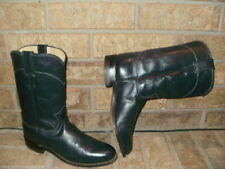 Justin Dark Blue Roper Boot Lady 7 M/Style 3057 Excellent
