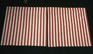 Pr Ralph Lauren Red White Stripe Belle Harbor Pillow Covers Euro Shams