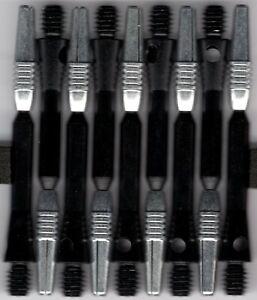 2in. 2ba BLACK Spinster Spinning Aluminum Dart Shafts: 3 per set