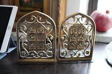 Vintage Oppenheim Israel Bronzetone Metal 12 Tribes Verdigris Stamped (2)
