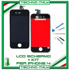 TOUCH SCREEN VETRO SCHERMO + LCD Display Assemblato + KIT PER iPhone 4G NERO