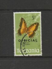 Tanzania 1973 Butterfly Official Opt, 5/- FU SG O49, top value