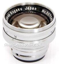 NIPPON KOGAKU NIKKOR-CB 1:1 .4 f = 5 cm rapide!!! objectif pour Contax & Nikon télémètres