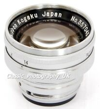 Nippon Kogaku NIKKOR-S.C 1:1.4 f=5cm FAST!! Lens for Contax & NIKON Rangefinders