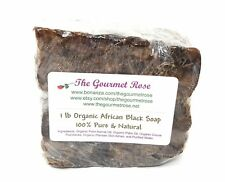 1 lb ORGANIC AFRICAN BLACK SOAP 100% Pure Melt And Pour Natural BULK Wholesale