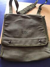 Vintage Genuine Us Military Canvas Map Case Bag Sling Pouch Photograph Shoulder