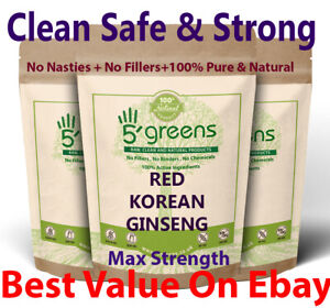 Red Korean Ginseng Capsules 20:1 14,000mg High Strength Red Panax Extract