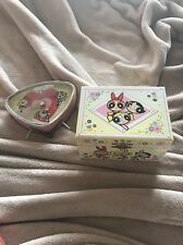 Powerpuff Girls  Deco Alarm Clock Triangle & Music Box Bubbles Buttercup Blossom