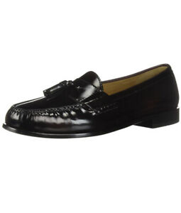 Men Cole Haan Pinch Tassel Moccasins Slip On Loafer Shoes Leather Burgundy 03507