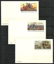 U.S. Postal cards stamp scott ux77, ux79, ux90 - unused