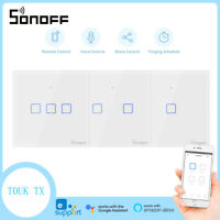 SONOFF T0 UK Smart Wall Touch Switch Wifi Wireless APP Remote Control Home Light