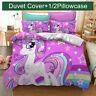 Unicorn Kids Bedding Set Duvet Cover Comforter Cover Pillow Case Rainbow Star