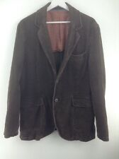Mens Crew clothing brown corduroy jacket size L stock No.Y421