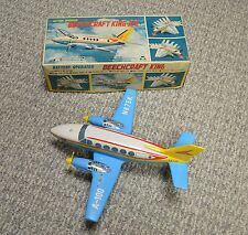 "Asahi Japan Battery Op ""Beechcraft King-Air"" Airplane 13 1/2"" Long Mint W/Box"