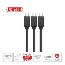 UNITEK 3-Pack High Speed USB A Male to Micro B Micro USB Cable Sync and Charging