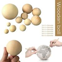 Kids Adult Wooden Round Ball Manual DIY Painting Props CraftPendant Toys
