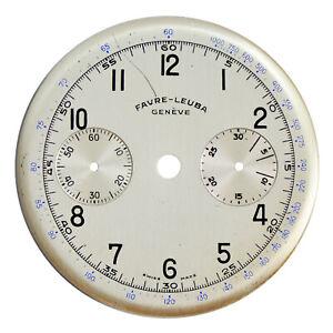 Original NOS Vint Favre-Leuba Landeron Cal 48 Chrono Chronograph Wristwatch Dial