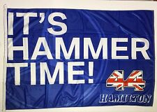 Lewis Hamilton Blue  Flag 35x53 inches (90x135cm) Formula 1 (perfect gift idea)