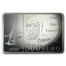 2010 France 1 kilo Silver €500 Pablo Picasso Proof (Spotted) - SKU#153494